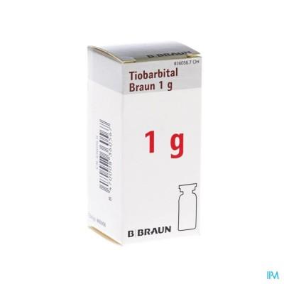 TIOBARBITAL BRAUN 1 G POEDER VR OPL INJ 1X1,0G