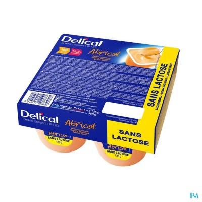 Delical Creme Dessert Hp-hc Z/lact.abrikoos 4x125g