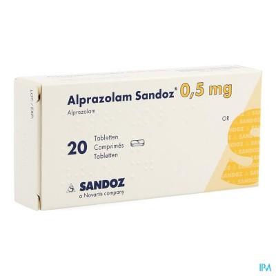 Alprazolam Sandoz 0,50mg Comp 20 X 0,50mg