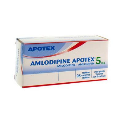 AMLODIPINE APOTEX 5 MG TABL 98