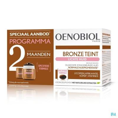 Oenobiol Bronze Teint Lichte Huid Caps 2x30