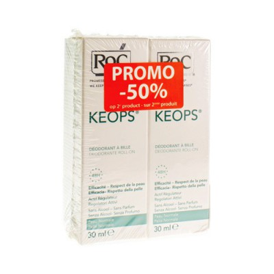 ROC KEOPS DUO DEO ROLL Z/ALC Z/PARF NORM/H 2X30ML