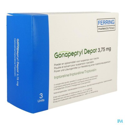 Gonapeptyl Depot 3,75mg Pdr+solv Inj Voorg.sp 3+3