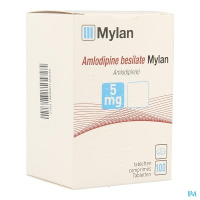 Amlodipine Besilate Mylan Comp 100 X 5mg Blister