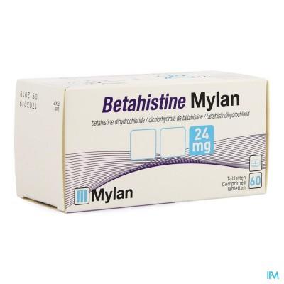 BETAHISTINE MYLAN 24 MG COMP 60 X 24 MG