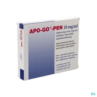 Apo-go-pen 10mg/ml 5 Pennen 3ml Sol Inj