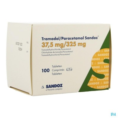 TRAMADOL/PARACETAMOL SANDOZ 37,5MG/325MG COMP 100