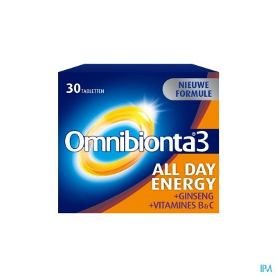 Omnibionta3 All Day Energy Multivitamines voor Energie (30 tabletten)
