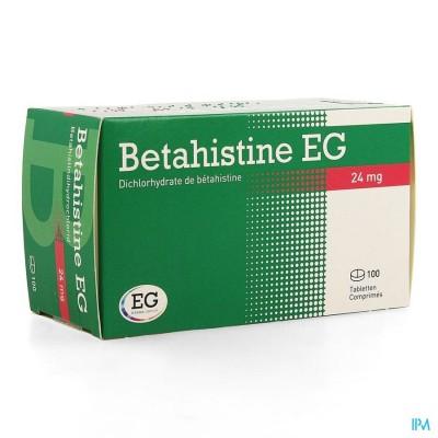 Betahistine Eg Comp 100 X 24mg