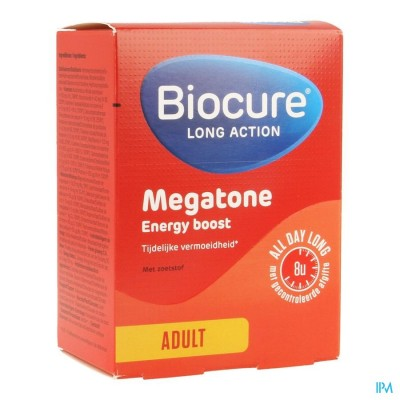 BIOCURE LONG ACTION MEGATONE ENERGY BOOST COMP 60