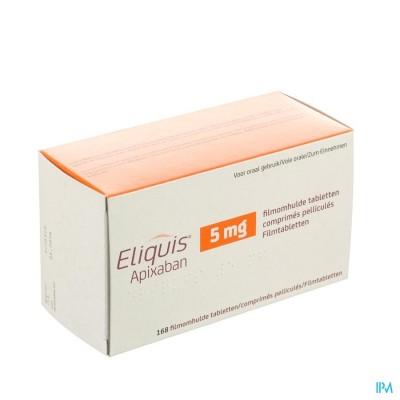 Eliquis 5,0mg Filmomh Tabl 168 X 5mg