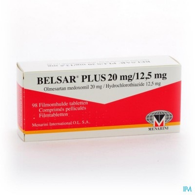 Belsar Plus 20mg/12,5mg Filmomh Tabl 98