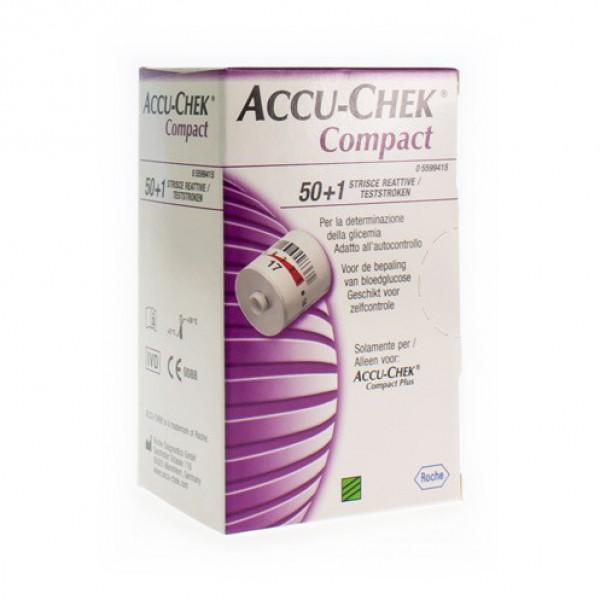 ACCU CHEK COMPACT STRIPS GLUCOSE 3X17 5185289171
