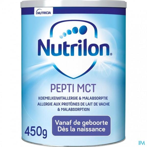 Nutrilon Pepti MCT poeder 450g Lactosevrij Volledige zuigelingenvoeding
