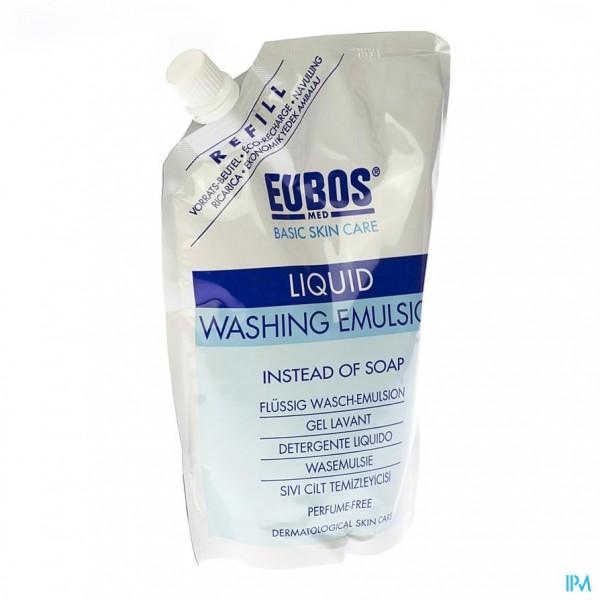 Eubos Zeep Vloeibaar Blauw N/parf Refill 400ml